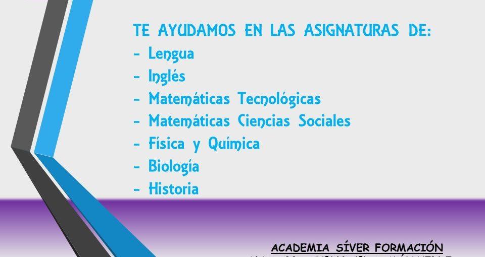 CLASES DE APOYO 1ºBACHILLERATO TODAS LAS ASIGNATURAS