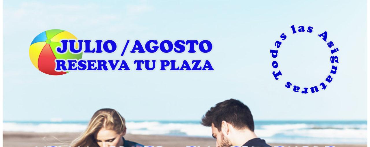 CURSO DE VERANO JULIO Y AGOSTO