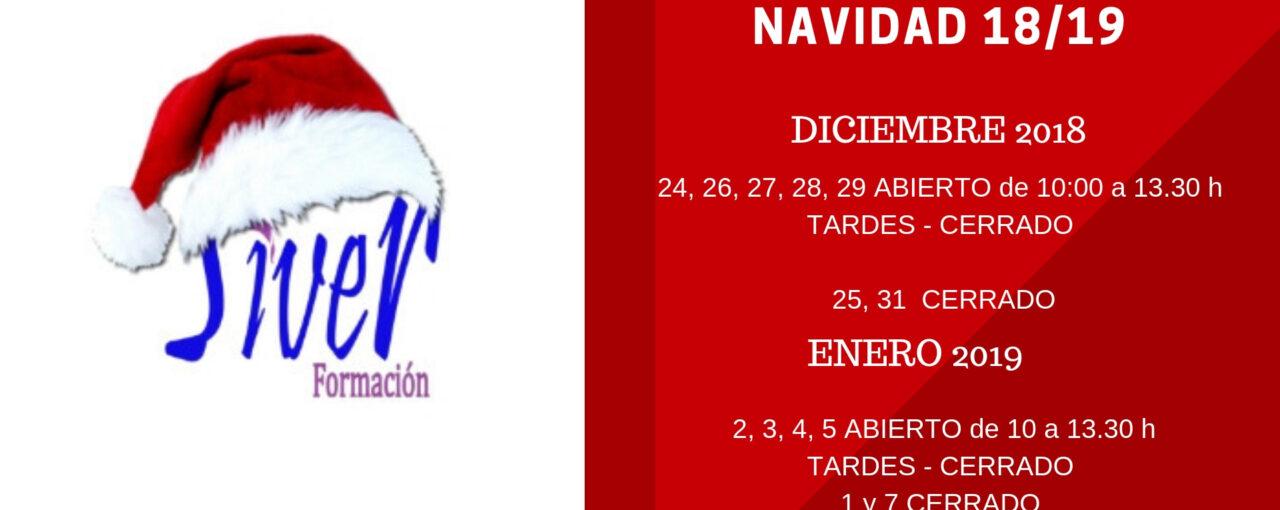 HORARIO SECRETARÍA NAVIDAD 2018/2019