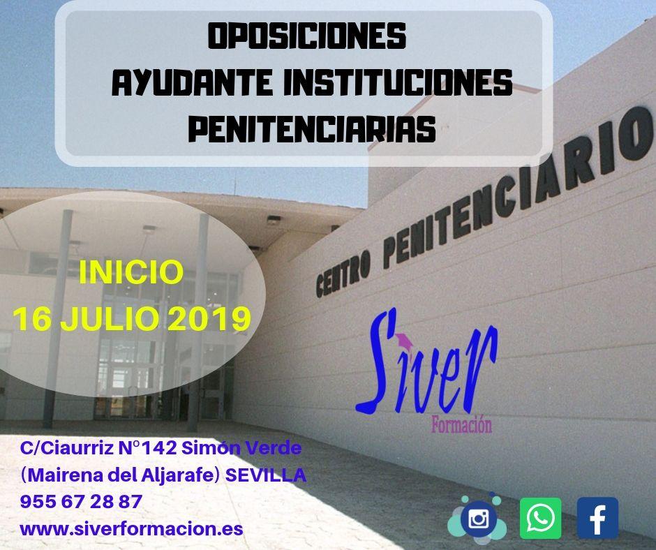 INICIO OPOSICIONES AYUDANTE INSTITUCIONES PENITENCIARIAS