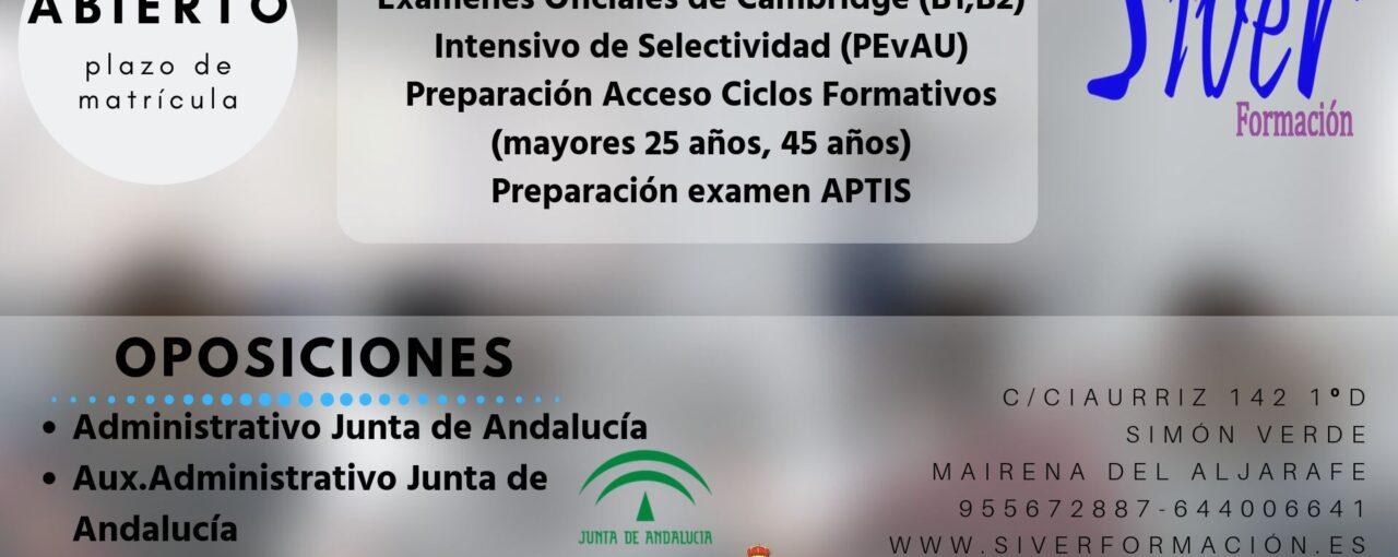 APOYO DE ESO, BACHILLERATO, CICLO FORMATIVO, MAYORES DE 25, 45 AÑOS, OPOSICIONES