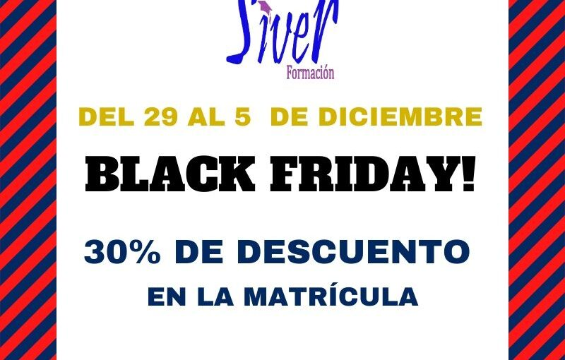 ¡¡BLACK FRIDAY POR TIEMPO LIMITADO!!
