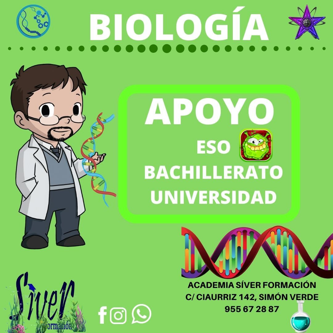 Apoyo de Biología ESO, BACHILLER y UNIVERSIDAD