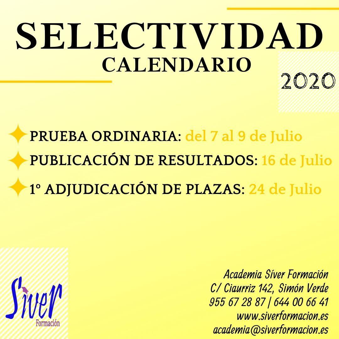 CALENDARIO DE SELECTIVIDAD