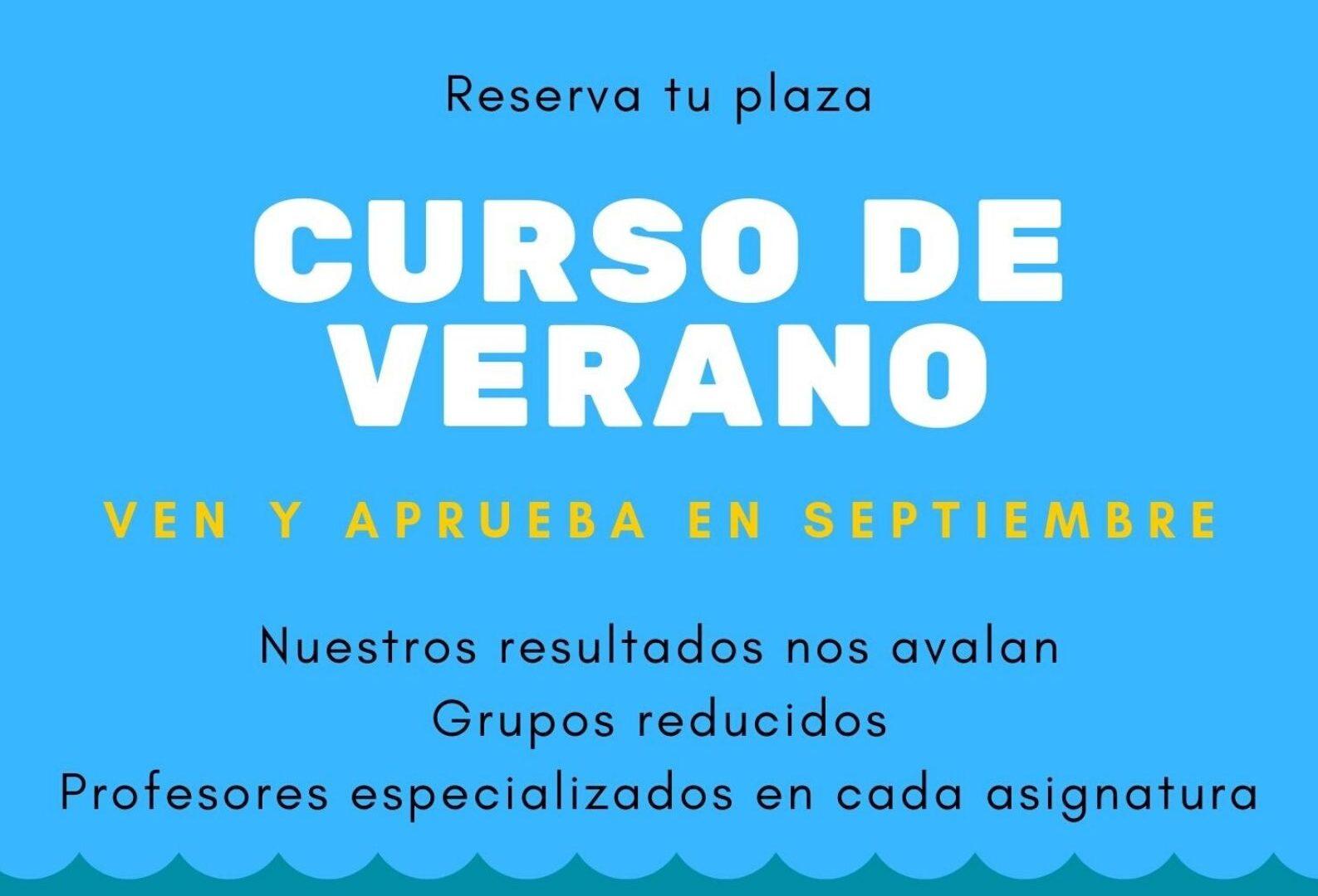 CURSO DE VERANO (JULIO y AGOSTO)