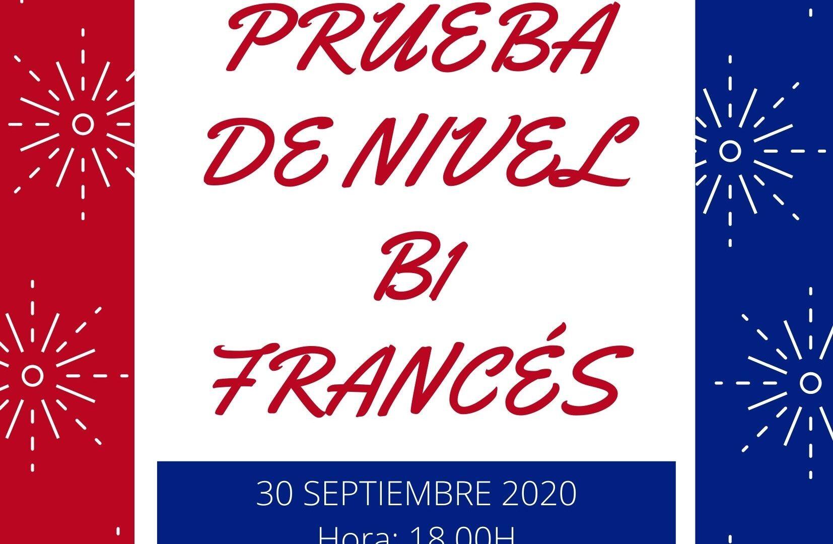Prueba de Nivel B1 FRANCÉS