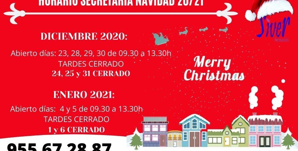 HORARIO SECRETARÍA NAVIDAD (diciembre-enero)