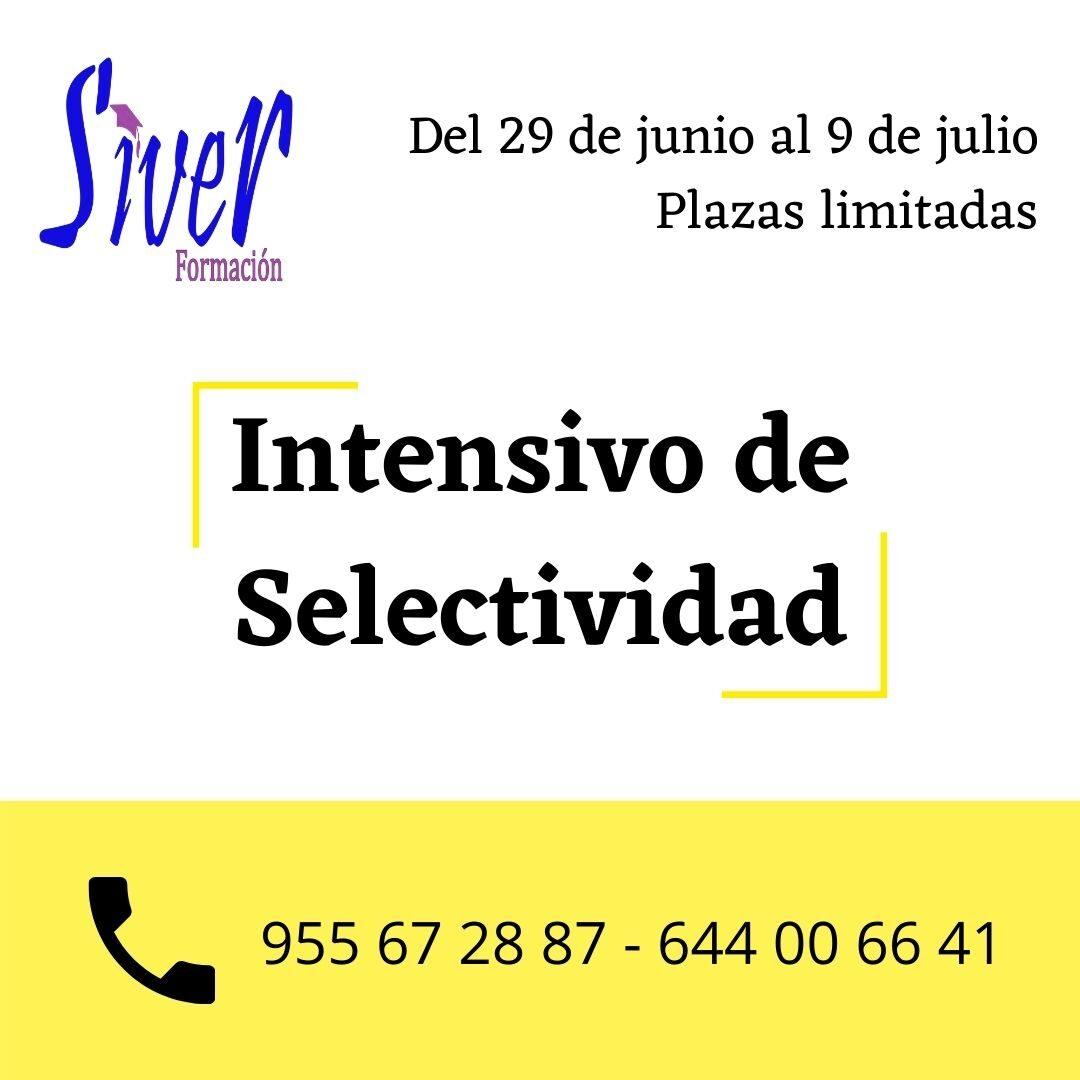 CURSO INTENSIVO SELECTIVIDAD JULIO 2O21